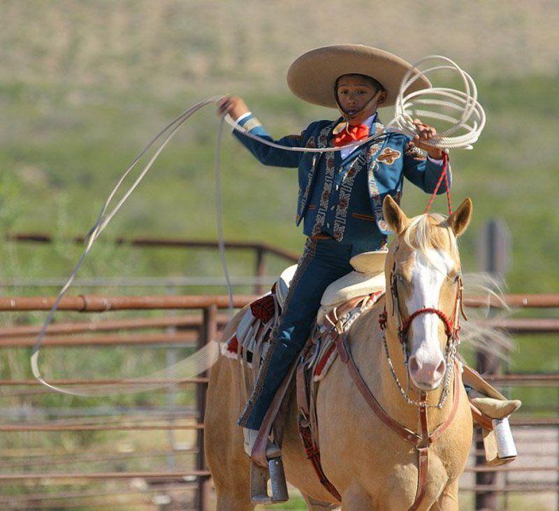 Mexico, fiesta, charreria, el muchacho mejicano futuro Zorro :-)photo preview