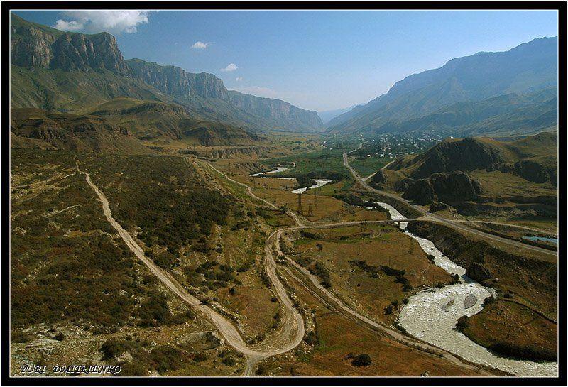 кабардино-балкария,горы,баксанскоеущелье,река Ущельеphoto preview