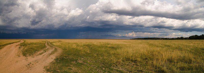ильмень, поле, тучи, дорога, панорама photo preview