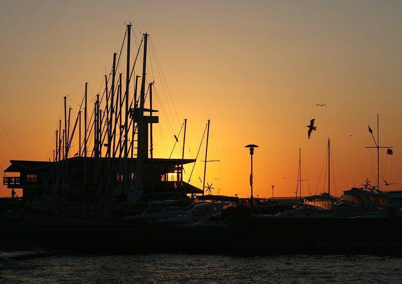 куршский залив, нида, пристань, рассвет Рассвет у пристаниphoto preview