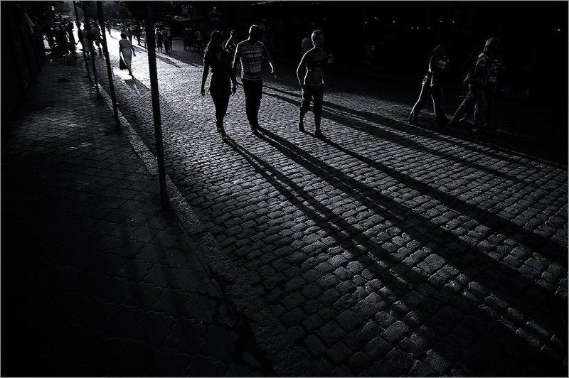 одесса, дерибасовская, закат, тени, август Закат на Дерибасовской #2photo preview