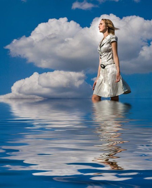девушк модель лето вода небо Прогулки в Раю...photo preview