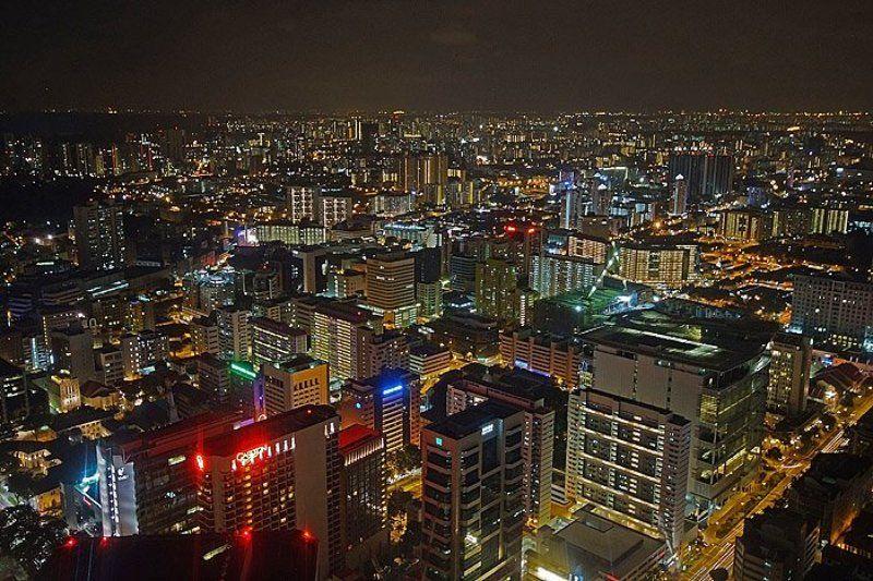 Ночной Сингапур с высоты 70 этажейphoto preview