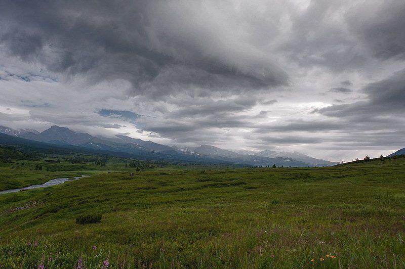 долина, река, сторож, камчатка Хмурое лето Камчаткиphoto preview