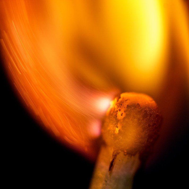 пламя, огонь, красота, макро, спичка Пламяphoto preview