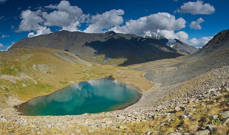 горы, алтай, река, елангаш, ирбисту вид на Ирбистуphoto preview