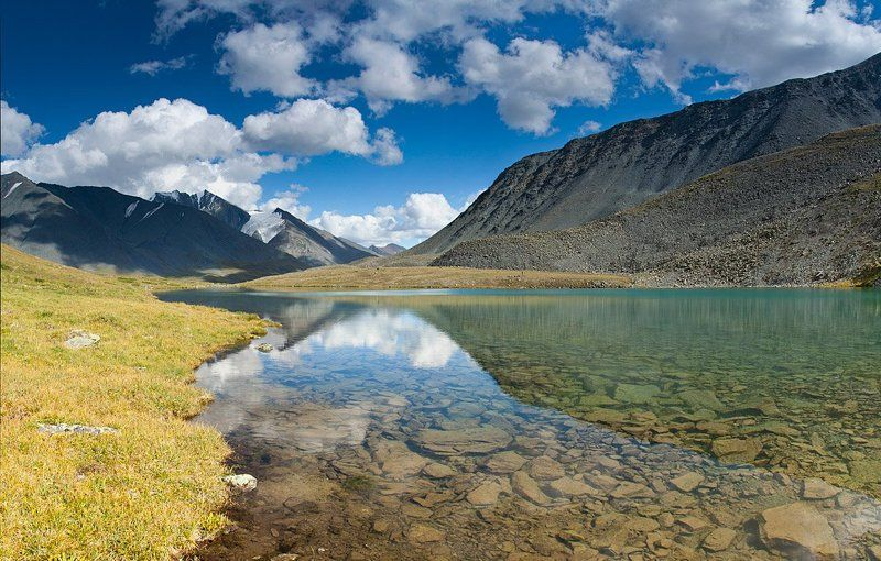 горы, алтай, река, елангаш, ирбисту ***photo preview
