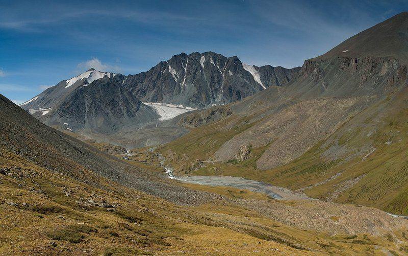 горы, алтай, река, елангаш, ледник Елангашphoto preview