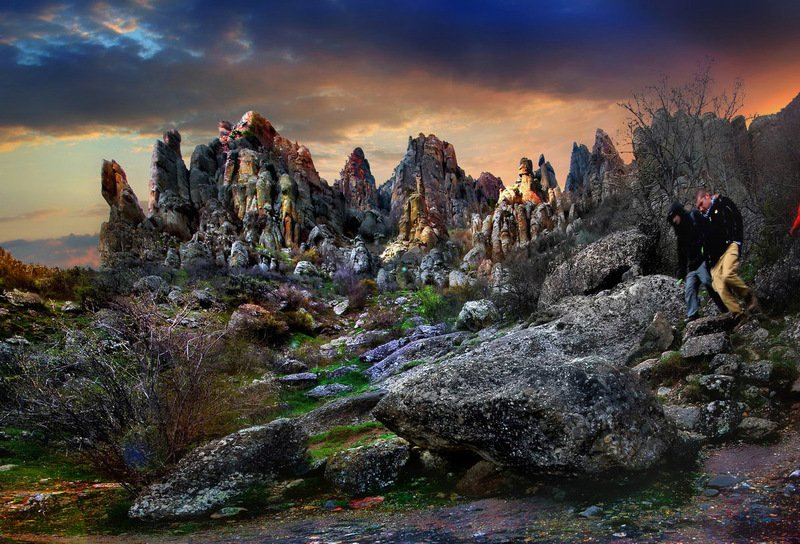 алушта, водопад, горы, демерджи, джур-джур, крым, симеиз, скалы, чатырдаг, панагия, зеленогорье, каменные-монстры-крыма На туманном Демерджи...photo preview