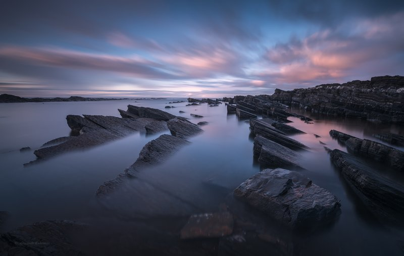 кольский, закат, море, камни, Тайны Баренцева моря...photo preview