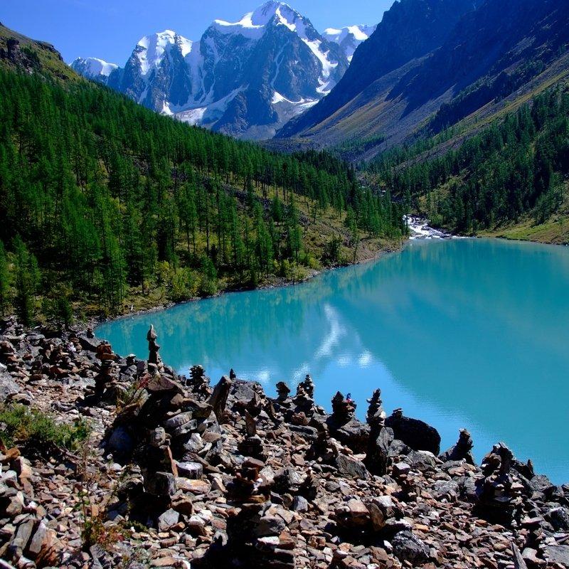 шавлинское, озеро, горный, алтай, пейзаж Шавлинское озероphoto preview