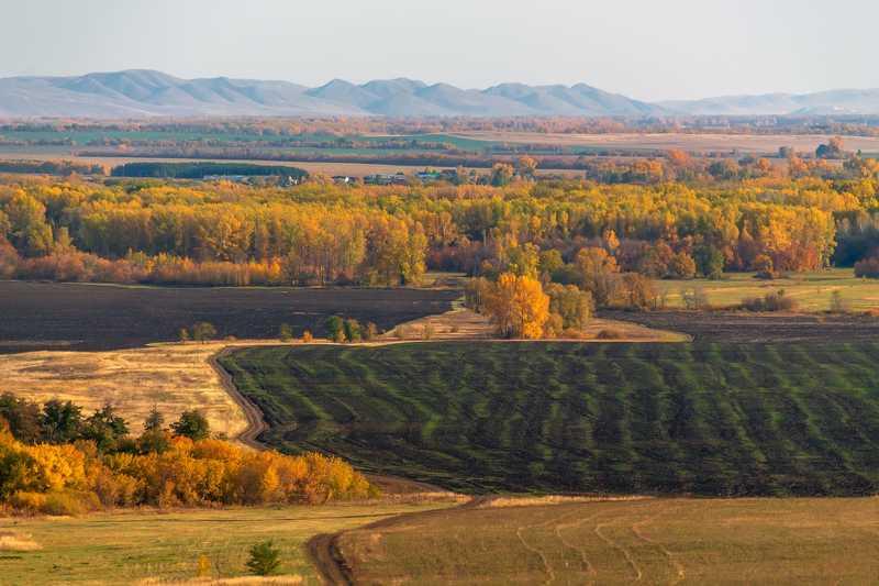 осень, горы, урал, панорама Золото Уралаphoto preview