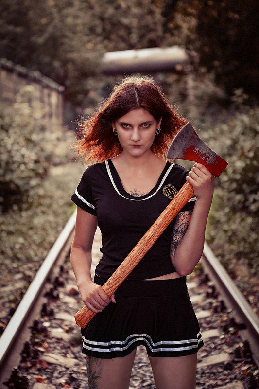 axe girl топор хорор трилер ужас Axe girlphoto preview