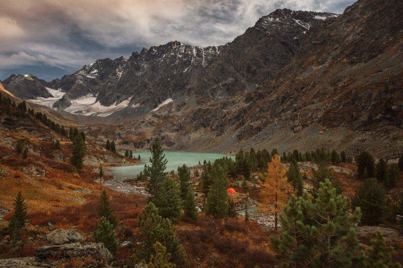 алтай, озеро, горы, лес, природа, закат, рассвет, красота, приключения, путешествие Огонек моей душиphoto preview