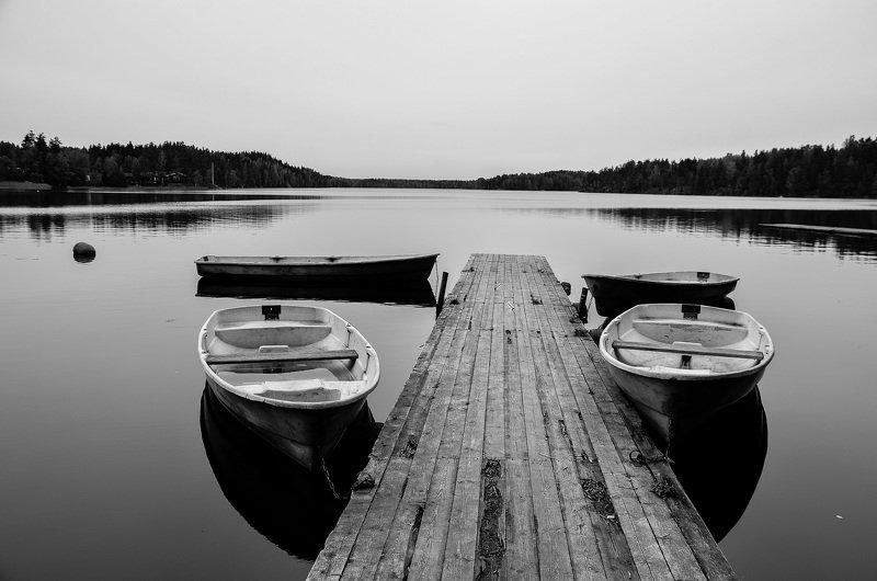 ладога, озеро, лодка, утро, осень, На Ладоге.photo preview
