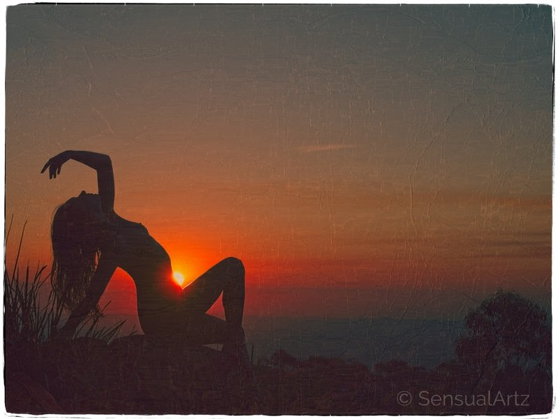 female, woman, nude, sunset, silhouette memories of a sunsetphoto preview