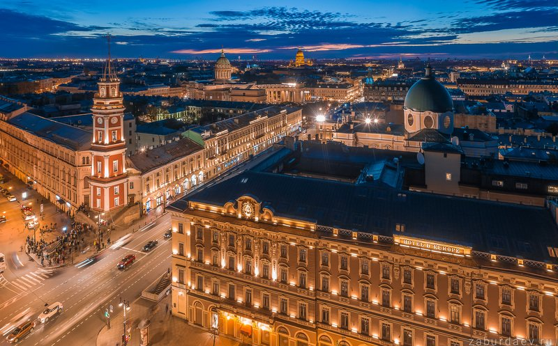 россия, петербург, вечер, закат, дрон, осень, архитектура Санкт-Петербургphoto preview