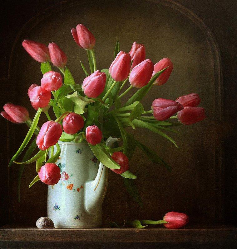 натюрморт Натюрморт с тюльпанамиphoto preview