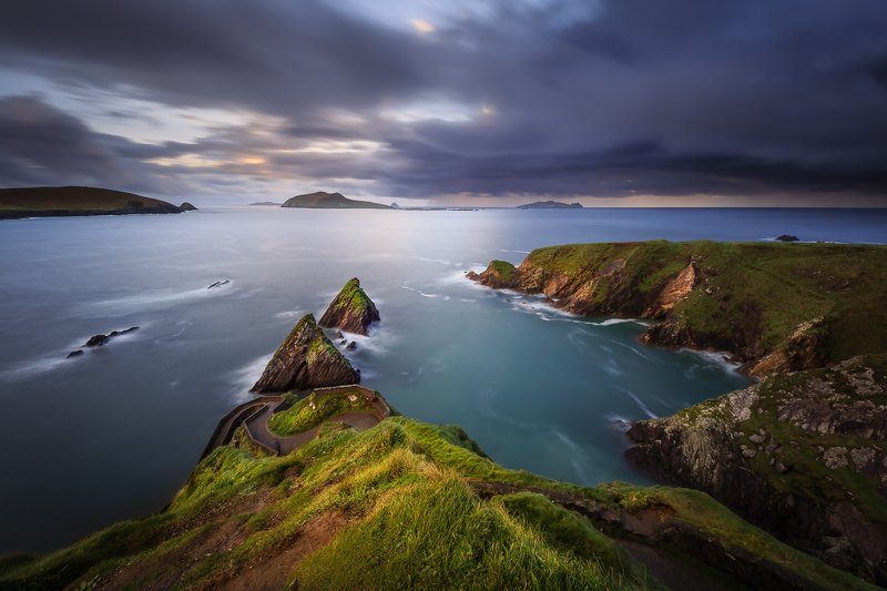 Ireland, longexposure, long exposure, landscapes, seascapes, sunrise, sunset Dunquin Harbourphoto preview