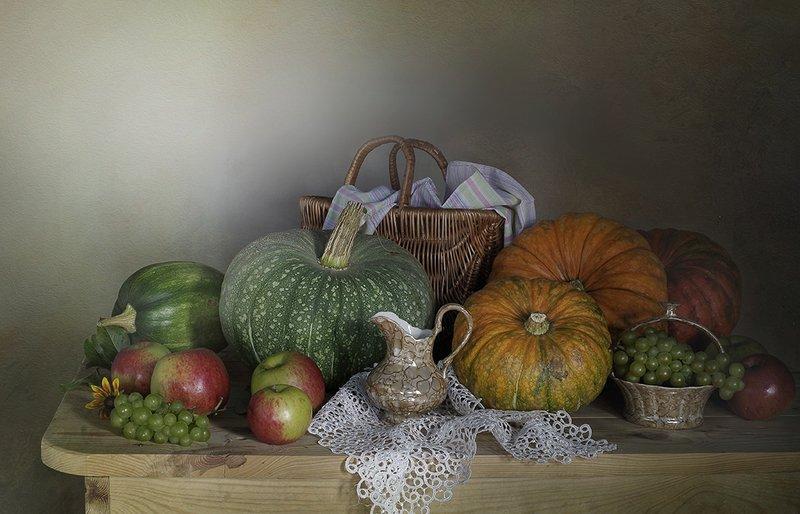 натюрморт ,тыквы ,осень ,вера павлухина , Натюрморт с тыквамиphoto preview