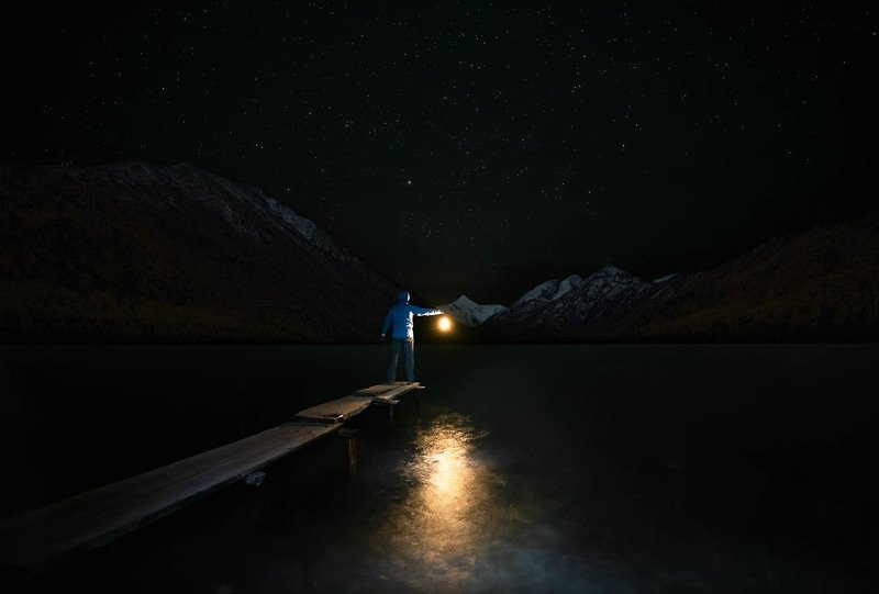 Почти автопортрет под звездным небом.photo preview