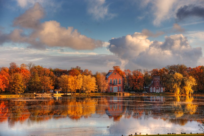 царское село, осень очарование осени...photo preview