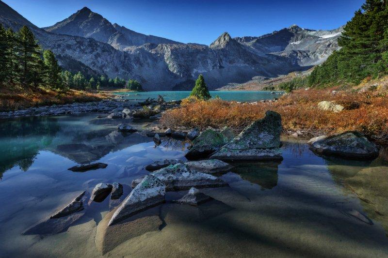 алтай, озеро, горы, лес, природа, закат, рассвет, красота, приключения, путешествие Геометрия горphoto preview