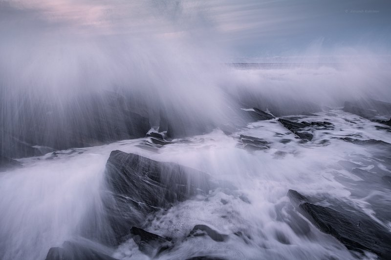 кольский, закат, море, камни, Прилив...photo preview