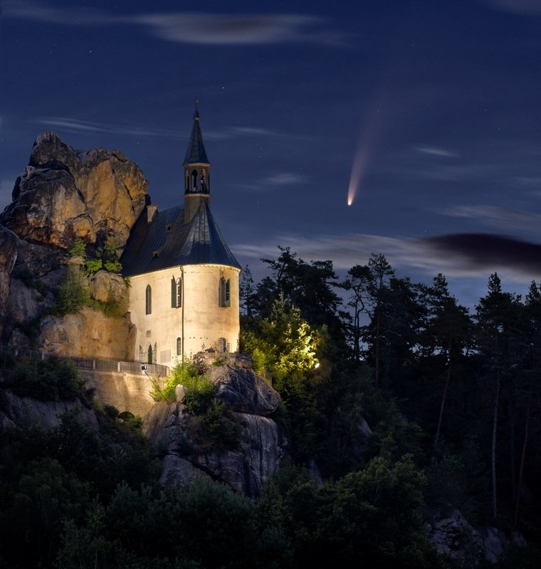 neowise, bohemian paradise, czechia, night photo, nightscape Neowise..photo preview