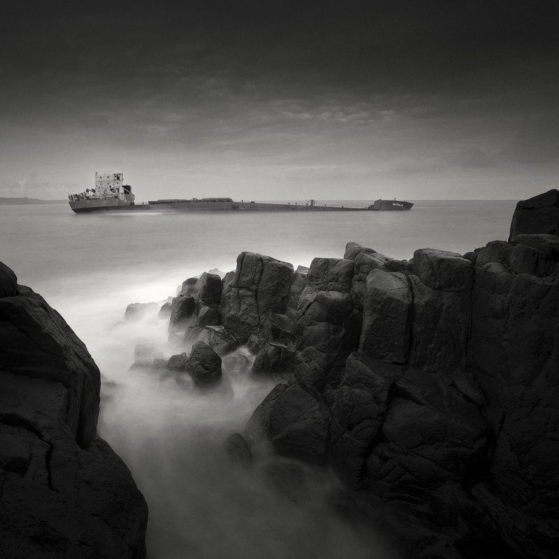 blackandwhite , dark , Yucel , Turkey , longexposure , ship , bw , beauty ,  THE DARK BEAUTY – GHOST SHIP SERIES / photo preview