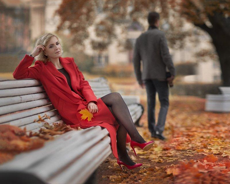 осень,женщина,мужчина,отношения,грусть,настроение Осень...photo preview
