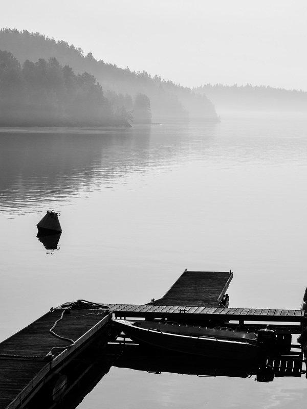 утро, туман, осень, ладога, ладожское шхеры, озеро, красота, фотография, красиво Туманное утро в Ладожских шхерах.photo preview