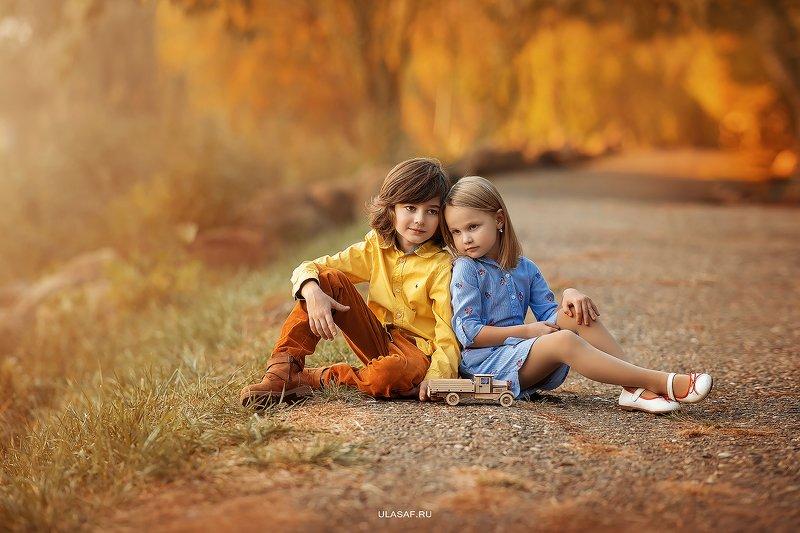 осень, autumn, портрет, дети, people, 105mm, kid, children, beautiful, magik, волшебство, закат, грусть, эмоции ***photo preview