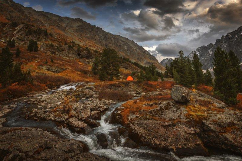 алтай, озеро, горы, лес, природа, закат, рассвет, красота, приключения, путешествие Притяжениеphoto preview