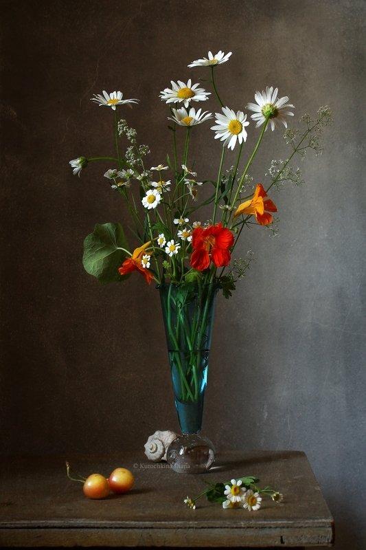 натюрморт, цветы, букет, ракушка .*.photo preview