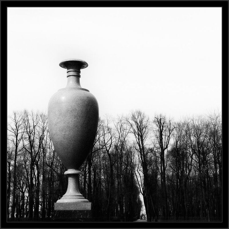 петербург, центр, летний сад, чб, квадрат Черно-белый классический питерский квадратphoto preview