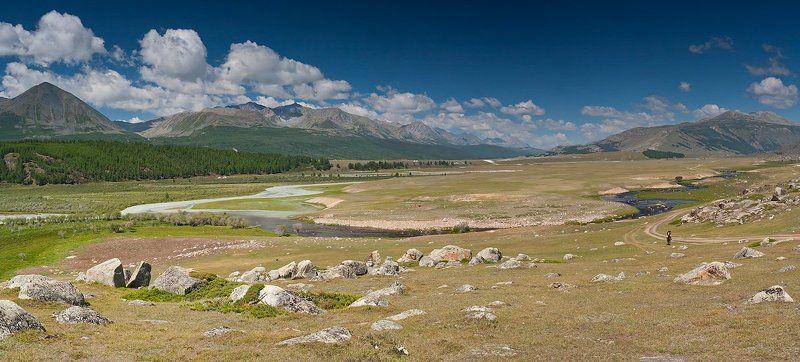 монголия, горы, алтай, река, цаган-усс там, где кумыс рекою льется...photo preview