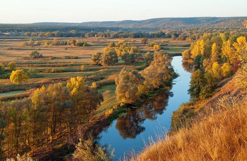 осень , утро , речка утро на Донцеphoto preview