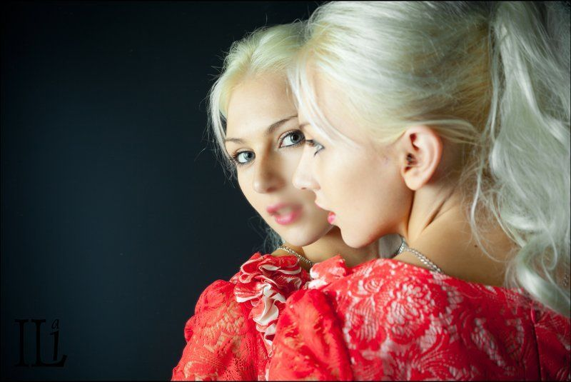 девушка, зеркало, отражение Дыханиеphoto preview