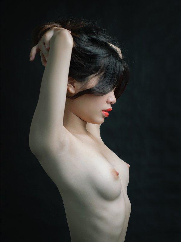portrait, female, woman, girl, asian, vietnam, vietnamese, young, beauty, glamour, nude, fine nude, light, studio * * *photo preview