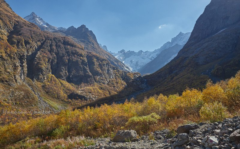 кавказ горы осень В погожий осенний денёкphoto preview