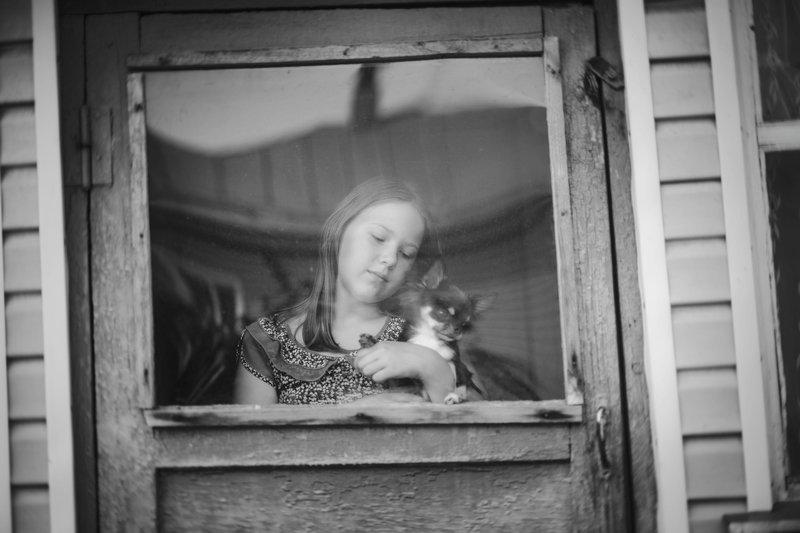 лето дети собака монохром жанр ***photo preview
