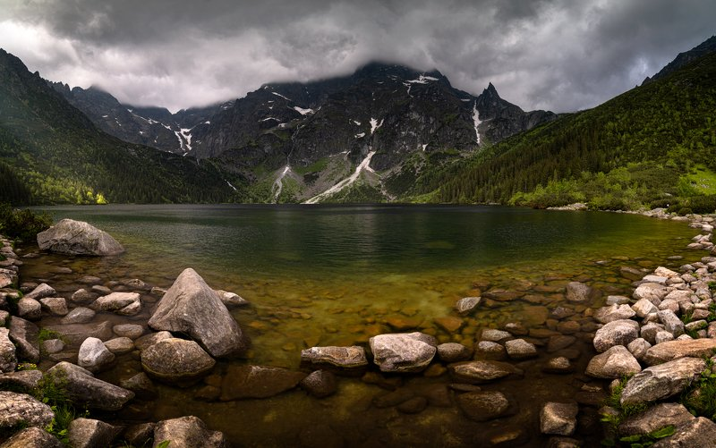 nature, landscape, tatry, light, morning, mountains, morskie oko Morskie Okophoto preview