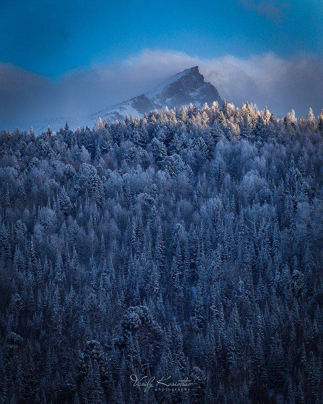 ивановский хребет, западный алтай, казахстан, март 2019 ... морОзитphoto preview