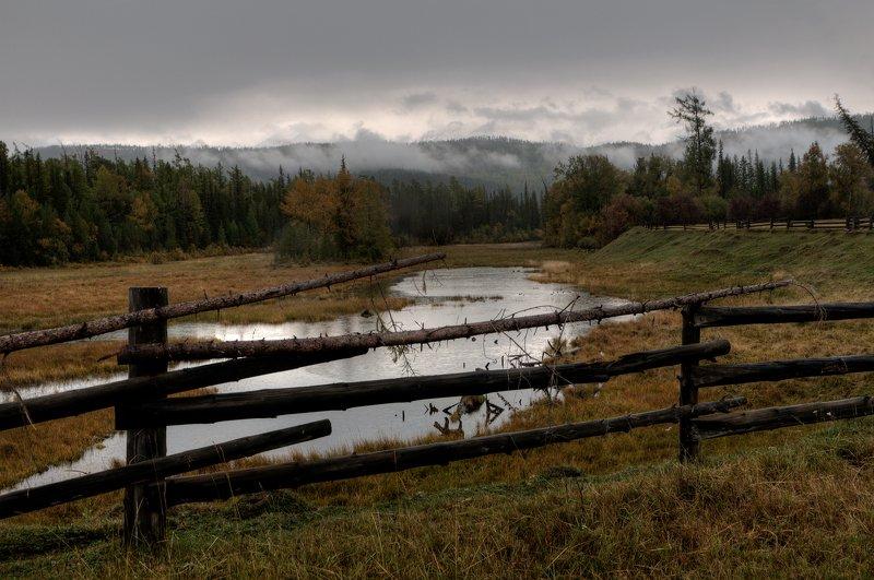 река, иркут, бурятия, восточные саяны, предгорья Иркут, ненастный деньphoto preview