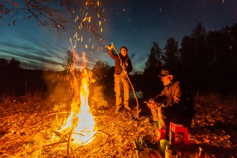 мещёра, рязанская область, друзья, вечер, костер, лесная река С друзьями по Мещёреphoto preview