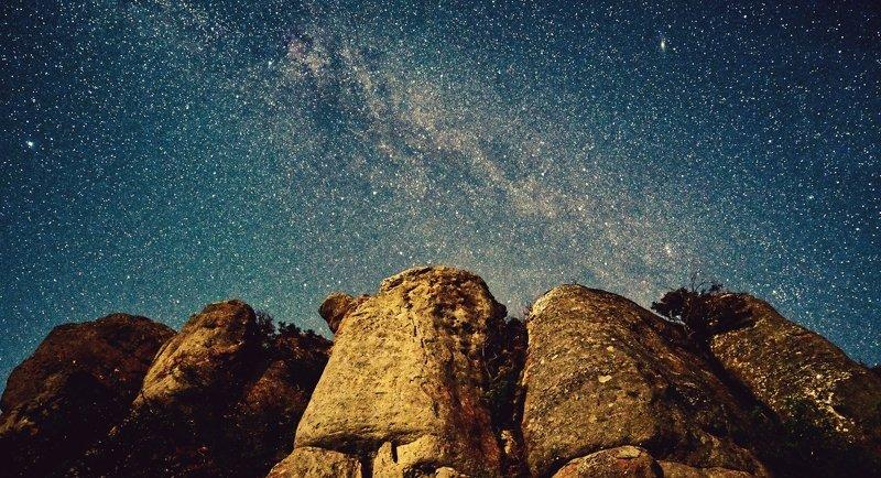 пейзаж, ночь, звезды, крым, демерджи Звездная пыльphoto preview