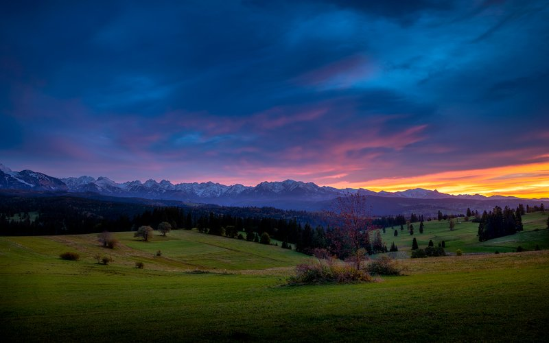 nature, autumn, landscape, colors, sunset, tatry Tatryphoto preview