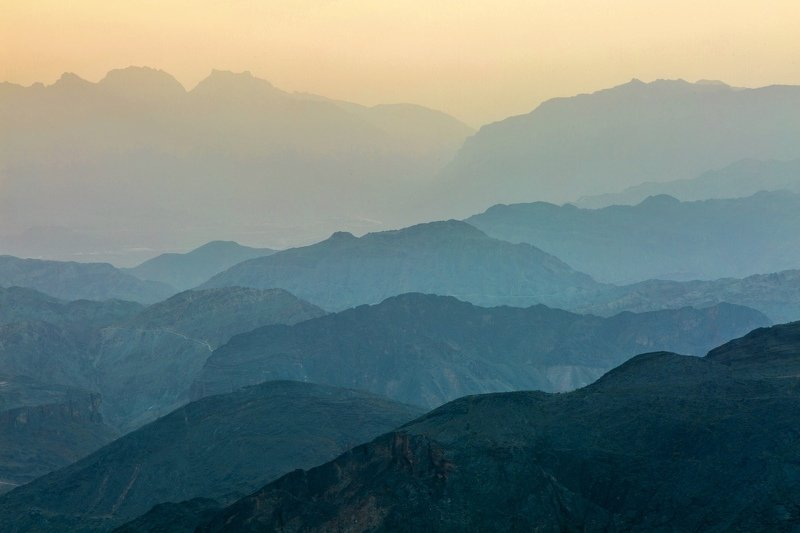 Mountain Nature Sunset Oman Travel View Outdoor Colours Infinity photo preview