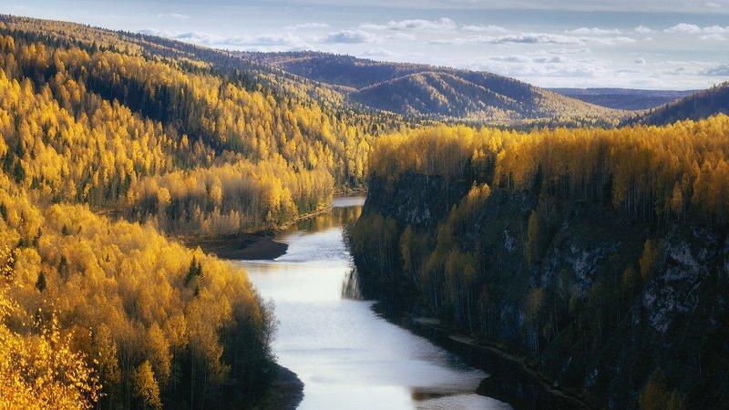 Пермский край, Косьва, Осень, Рассольная, Россия, Урал, пейзаж, река Осень на Косьвеphoto preview